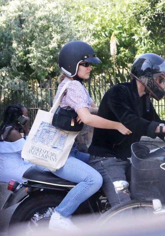Lily-Rose Depp and Samuel Benchetrit - Riding Motorcycle in Paris 05/27/2020