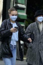Lily-Rose Depp and Vanessa Paradis in the Marais District of Paris 05/13/2020