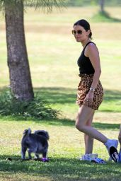 Lucy Hale in Cute Outfit at a Park in Studio City 05/28/2020