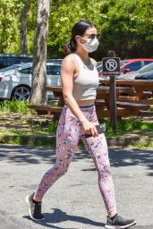 Lucy Hale in High Waisted Leggings - Hollywood 05/14/2020