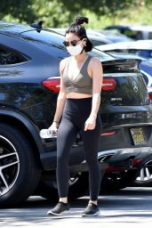 Lucy Hale in Skintight Activewear - Studio City 05/15/2020