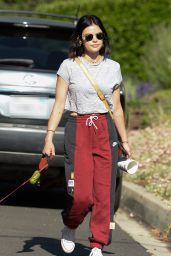 Lucy Hale in Street Outfit 05/08/2020
