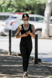 Lucy Hale in Workout Outfit - Hiking in Hollywood Hills 05/20/2020
