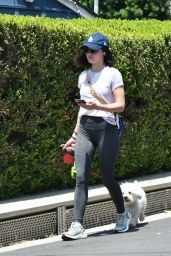 Lucy Hale - Takes Her Dog for a Walk 05/09/2020