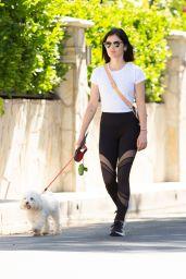 Lucy Hale - Walking Her Dog in LA 05/06/2020