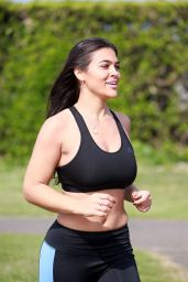 Lydia Clyma in Workout Outfit - Daily Exercise 05/08/2020