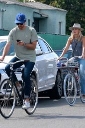 Malin Akerman - Ride Bike in Venice 05/12/2020