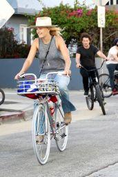 Malin Akerman - Ride Bike in Venice 05/12/2020