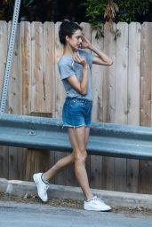 Margaret Qualley Leggy in Shorts - LA 05/08/2020