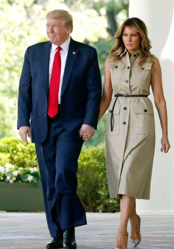 Melania Trump in Christian Louboutin Pumps 05/07/2020