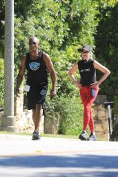 Melanie Griffith - Out Jogging in Beverly Hills 05/26/2020