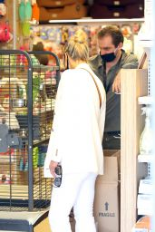 Michelle Hunziker and Tomaso Trussardi Shopping at Pet Shop and at Trussardi Outlet in Bergamo