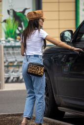 Michelle Keegan in Ripped Jeans - Leaving Pets at Home Pet store in Essex 05/27/2020