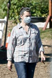 Milla Jovovich - Shopping at a Plant Nursery in Malibu 05/21/2020