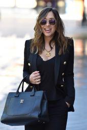 Myleene Klass in Black Flared Trouser Suit 05/18/2020