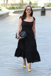 Myleene Klass in Black Stylish Dress - London 05/28/2020