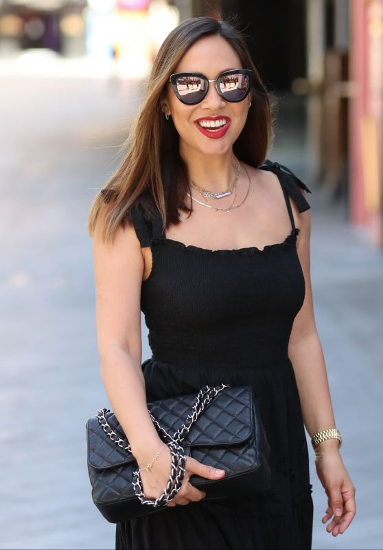 Myleene Klass in Black Stylish Dress - London 05/28/2020