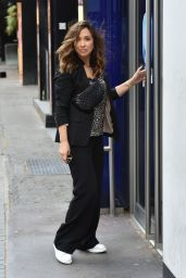 Myleene Klass in Casual Outfit - Smooth Radio in London 05/11/2020