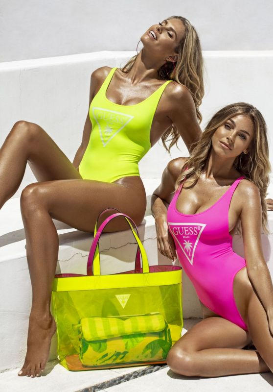 Natalie Roser and Elizabeth Turner - Guess Summer Swimwear Collection 2020