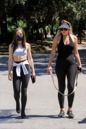 Natasha Alam and Anna Walt - Walking Dog in LA 05/27/2020