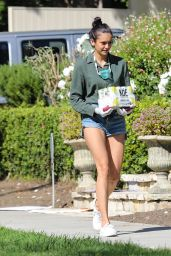 Nina Dobrev Shows Off Her Legs in a Pair of Short Shorts - Santa Monica 05/02/2020