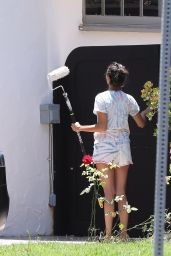 Nina Dobrev Street Outfit - Outside Her House in West Hollywood 05/28/2020
