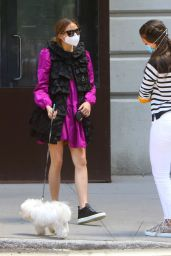 Olivia Palermo - Taking Her Dog Out For a Walk in Brooklyn 05/24/2020