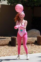 Phoebe Price in All Pink Ensemble - LA 05/13/2020