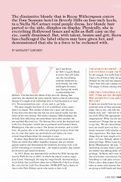 Reese Witherspoon - Fairlady Magazine June 2020 Issue