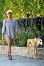 Regina King - Takes Her Dog Out for a Walk in LA 05/02/2020