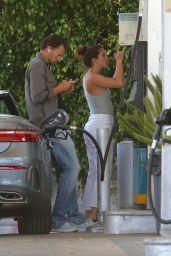 Sara Sampaio - Getting Gas in West Hollywood 04/30/2020