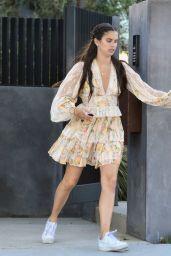 Sara Sampaio in Mini Dress – Leaving a Friend
