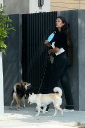 Sara Sampaio - Out to Walk Her Dogs - Los Angeles 05/09/2020