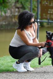 Sarah Jane Crawford - Walking Her Dog in Manchester 05/15/2020