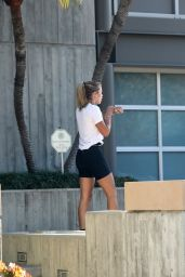 Sofia Richie in a Pair of Bike Shorts - Out in Malibu 05/21/2020