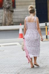 Vogue Williams in Floral Tiered Dress - London 05/17/2020