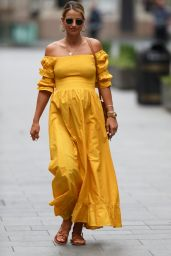 Vogue Williams in Yellow Maxi Dress 05/24/2020