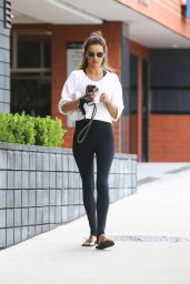Alessandra Ambrosio at a Gym in Brentwood 06/17/2020