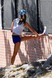 Alessandra Ambrosio - Jogging Around Brentwood 06/11/2020
