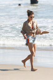 Alessandra Ambrosio - Plays Paddle Ball on the Beach in Santa Monica 06/10/2020