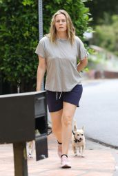 Alicia Silverstone - Out Walking Her Dogs 06/17/2020