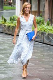 Amanda Holden in a Polka Dot Summer Dress 06/18/2020