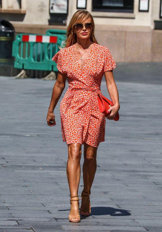 Amanda Holden in a Short Dress - London 06/26/2020