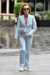 Amanda Holden in Powder Blue Suit - Leaving the Global Radio Studios in London 06/05/2020