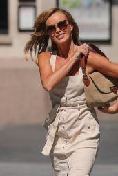 Amanda Holden in Strappy Summer Dress 06/25/2020