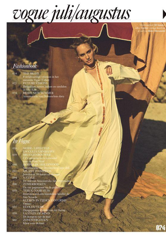 Amber Valletta - Vogue Netherlands July/August 2020 Issue