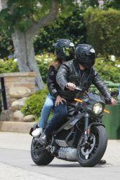 Ana De Armas and Ben Affleck - Cruising on His Motorcycle 06/02/2020