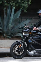Ana de Armas and Ben Affleck - Out for a Spin on His Motorcycle in Pacific Palisades 06/16/2020