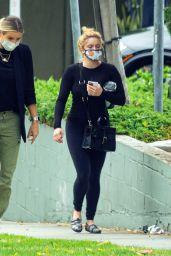Ariel Winter in Black Leggings and Tight Top - Visiting a Skin Care Clinic in West Hollywood 06/05/2020