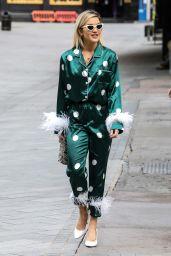 Ashley Robert in Silk Pyjama Suit - Arriving at the Global Radio Studios in London 06/19/2020